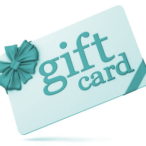 Gift card isolated on white. 3d generated image